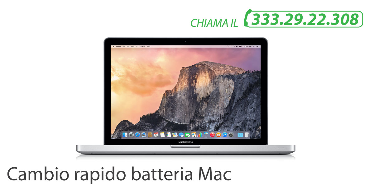 velocemente batteria macbook